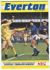 Everton v Charlton Athletic - Full Members Cup - 24/2/1987 - Football Programme