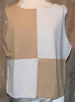 STAN HERMAN SO PRETTYOUTSIDE EDITION COLORBLOCKED TANK WHEAT & WHITE RAM/COT 3X