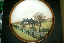 VINTAGE BEAUCE BEAUCEWARE CANADA A. JACQUES WALL DECOR POTTERY 14'' PLATE.
