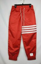MSRP: $1325 NWT New Thom Browne Red Relaxed Fit Track Joggers Men's Size 1 Small
