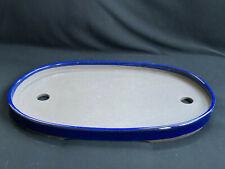 """Japanese Glazed 14.5"""" Bonsai Oval Pot : A25-52"""