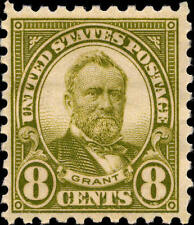 1926 8c Ulysses S. Grant, Olive Green Scott 589 Mint F/Vf Nh