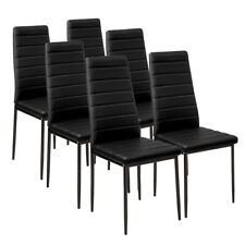Set of 4 / 6 Modern Dining Chairs - Padded Seat - Metal Legs - Home Furniture