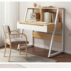 80cm Computer Desk PC Home Office Table Worksation with Small Shelves Kids Study
