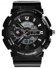 Sport Plastic Case Unisex Round Wristwatches