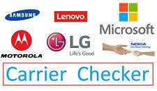 IMEI Carrier Checker/Check for Samsung/Lenovo/Microsoft/Motorola/LG/Nokia Phones