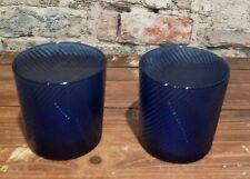 Vintage Cobalt Blue Tumbler rock glasses