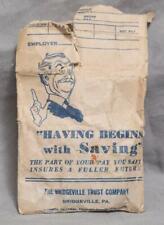 Vintage Bridgeville Trust Company Pennsylvania Bank Envelope g50