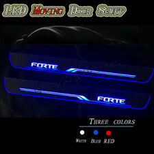 2pcs For Kia Forte 2010-2021 Car LED Front door scuff plates Sill Moving Lights