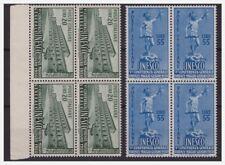 ITALIA 1950  -  UNESCO  SERIE  QUARTINA NUOVA **