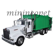 NEW RAY 10533 D KENWORTH W900 GARBAGE TRUCK 1/32 DIECAST MODEL WHITE / GREEN
