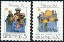 Micronesia Scott #184-185 MNH Christmas 1993 $$