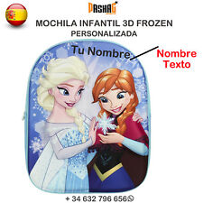 Mochila Frozen Escolar Disney De Bolsa Niña Azul La 3D Personalizado