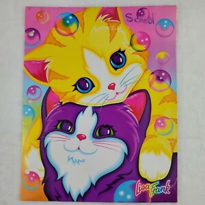 Vintage Lisa Frank Kitty Cat 2 Pocket Folder Bubbles