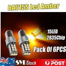Pack Of 6pcs BAU15S 15LED 2835 Cars Indicator Turn Signals Stop Led Lights Amber