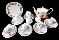 Nell - Pretty 22 Piece Vintage Shabby Chic Mismatch China Tea Set