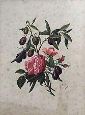 ROSEN MIT FRÜCHTEN - L. BETTE 1895 - STILLLEBEN - JUGENDSTIL GRÜNDERZEIT