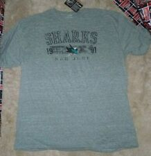 NEW NHL San Jose Sharks Old Time  Ice Hockey T Shirt Men 2XL XXL Tri Blend - NWT