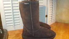 BEARPAW Emma Womens Dark Brown Suede Tall Winter Boot Shoes Size 9