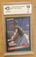 Jose Canseco Rookie Grade 10 1986 Donruss The Rookies #22 BCCG Mint Or Better