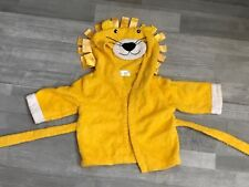 Bathrobe Baby Steps Yellow Lion Hooded BathrobeTowel 0-9 Months
