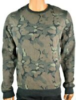 Buffalo David Bitton Mens Sweater New S M L XL XXL Camo Long Sleeves Crew Neck