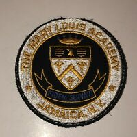 Vintage THE MARY LOUIS ACADEMY Round Patch Jamaica New York Catholic All Girls