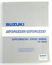 SY416 SY418 Suzuki wagon factory workshop manual supplement published 1986
