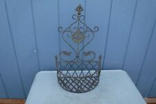 Early Victorian Decorative Metalware Flower Basket Sconce