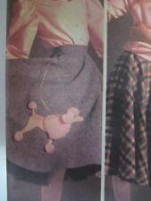 Vtg McCall's 8665 Poodle Skirt Costume Sewing Pattern Girl Size 10 Grease Play