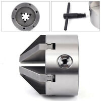 "Steel 4"" 6 Jaw 100mm Self-Centering Lathe Chuck for CNC Drilling Milling USA"