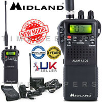 Midland Alan 42 DS AM FM Multi Band Mobile Handheld CB Transceiver Radio +Cover