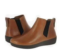 BNIB FITFLOP SUPERCHELSEA  Leather Ankle Boots dark tan UK size 5 EU38 £120