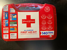 Johnson & Johnson All - Purpose Portable Compact First Aid Kit, 140 Pieces