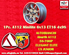 1 Cerchio Autobianchi A112 Abarth Minilite 6x13 4x98 Wheels Felge Llanta Jante
