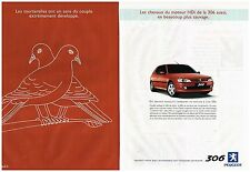 Publicité Advertising 1999 (2 pages) Peugeot 306 HDi