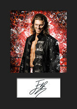 EDGE #1 (WWE) Signed (Reprint) Photo A5 Mounted Print - FREE DELIVERY