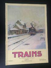 TRES RARE ancienne revue SNCB Trains N° 10 1952 rail Belgique TTBE