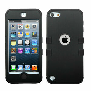iPod Touch 5th 6th & 7th Generation - BLACK Armor High Impact Hybrid Cover Case