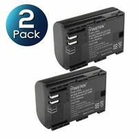 2-Pack LP-E6 LP-E6N Battery for Canon EOS 70D 60D 80D 5D 6D 7D Mark II III