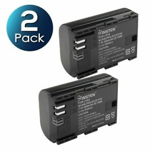2-Pack LP-E6 LP-E6N Battery for Canon EOS 70D 60D 80D 5D 6D 7D Mark II III