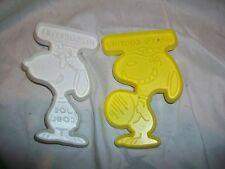2 Vintage Plastic Snoopy Cookie Cutters Hallmark PEANUTS Joe Cool