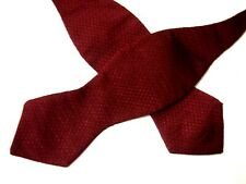 Polo Ralph Lauren Mens Bow Tie Solid Burgundy Red Textured Adjustable