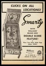 1946 Williams Smarty pinball machine photo vintage trade print ad