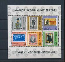 LM83129 Turkey centenary Ataturk good sheet MNH
