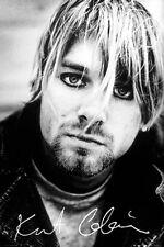 ~ Nirvana ~ Kurt Cobain Face Poster ~