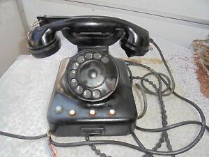 W48 altes Telefon DP573,VEB RFT305 Bakelit Telephone Vermittler!
