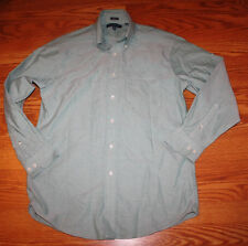 NEW Mens TOMMY HILFIGER Button Front L/S Green Collar Shirt M 15 1/2 32-33