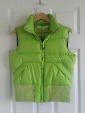 VTG Tommy Hilfiger Womens Vest Puffer Sz. M Down Feather Lime Green Fitted