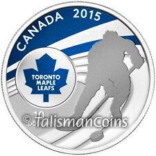 Canada 2015 NHL Toronto Maple Leafs National Hockey League Team Logo $10 Silver